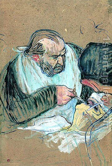 Dr Pean Operating by Toulouse-Lautrec - Reproduction Oil Painting