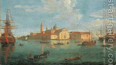The Island of San Giorgio Maggiore, Venice, from the Bacino by Caspar Andriaans Van Wittel - Reproduction Oil Painting