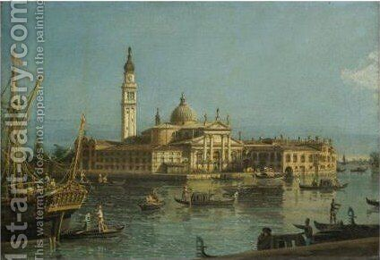 Venice, A View Of The Church Of San Giorgio Maggiore 2 by Bernardo Bellotto (Canaletto) - Reproduction Oil Painting
