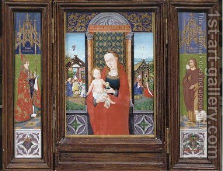 The Virgin and Child, Saint Donatianus and Saint John the Baptis by Jan Van Eyck - Reproduction Oil Painting