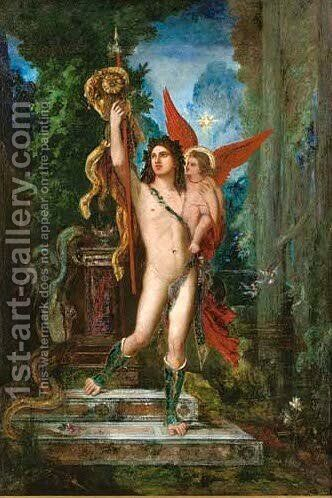 Jason and Eros by Gustave Moreau - Reproduction Oil Painting