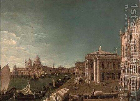 The Grand Canal, Venice, looking East by (Giovanni Antonio Canal) Canaletto - Reproduction Oil Painting