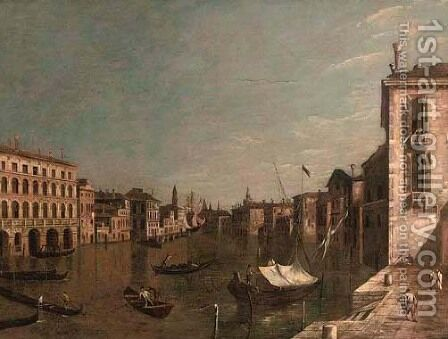 The Piazzetta, Venice, with the entrance to the Grand Canal with the Dogana and Santa Maria della Salute by (Giovanni Antonio Canal) Canaletto - Reproduction Oil Painting