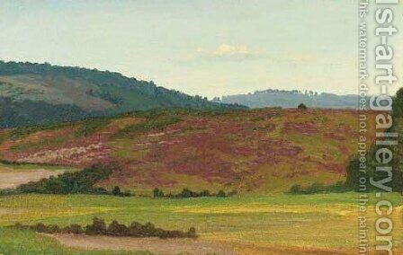 Rolling Hills, Westphalia, Germany by Albert Bierstadt - Reproduction Oil Painting