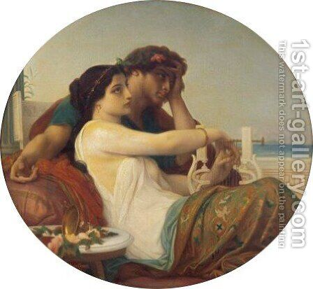 Aglae Et Boniface by Alexandre Cabanel - Reproduction Oil Painting