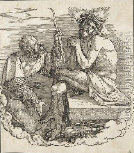 The Man Of Sorrows Mocked By A Soldier 2 by Albrecht Durer - Reproduction Oil Painting