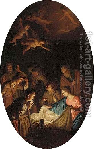 The Nativity by Caravaggio - Reproduction Oil Painting