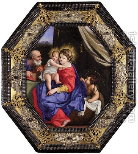 The Montalto Madonna 2 by Annibale Carracci - Reproduction Oil Painting