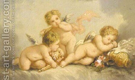 Cupids 2 by Charles Chaplin - Reproduction Oil Painting