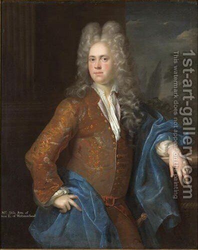 Portrait Of The Hon Mildmay Fane (1689-1715) by Alexis-Simon Belle - Reproduction Oil Painting