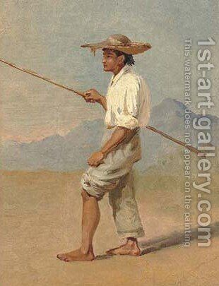 Mexican boy by Conrad Wise Chapman - Reproduction Oil Painting