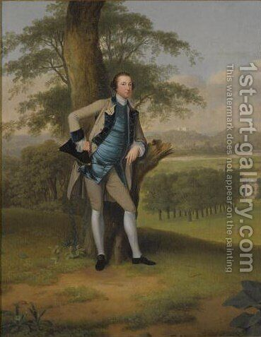 Portrait Of Lord Robert Manners-Sutton (1722-1772) by Arthur Devis - Reproduction Oil Painting