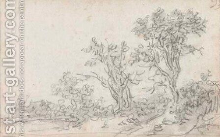 A landscape with trees by Jan van Goyen - Reproduction Oil Painting