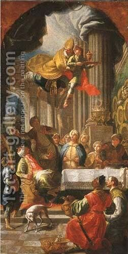 Saint Nicolas of Bari rescuing Adeodatus by Daniel Gran - Reproduction Oil Painting