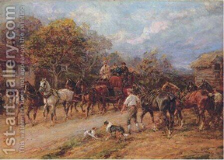 Changing horses by Heywood Hardy - Reproduction Oil Painting