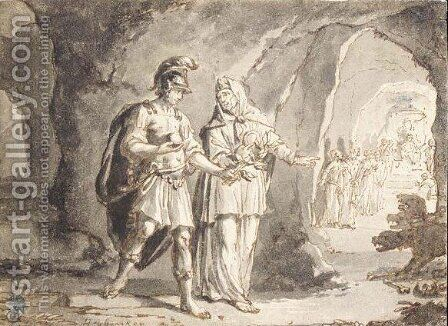 Aeneas And The Sibyl In The Underworld by Arnold Houbraken - Reproduction Oil Painting