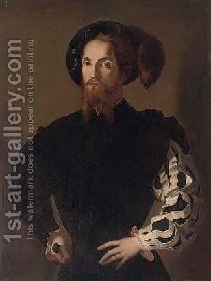 Portrait of a gentleman by Girolamo Francesco Maria Mazzola (Parmigianino) - Reproduction Oil Painting