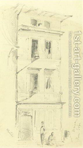 Maison Rue Orbe by James Abbott McNeill Whistler - Reproduction Oil Painting