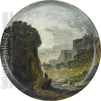 Torrent Dans Les Gorges D'ollioules by Hubert Robert - Reproduction Oil Painting
