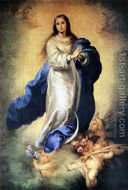 The Immaculate Conception of the Escorial by Bartolome Esteban Murillo - Reproduction Oil Painting