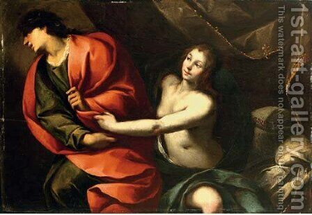 Joseph and Potiphar's wife by Carlo Francesco Nuvolone - Reproduction Oil Painting