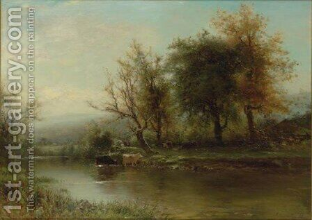 A September Morning In The Catskills by Arthur Parton - Reproduction Oil Painting