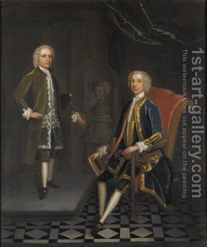 Portrait Of Two Gentlemen by Charles Philips - Reproduction Oil Painting