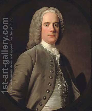 Portrait of Andrew Wauchope of Niddrie (1711-1784) by Allan Ramsay - Reproduction Oil Painting
