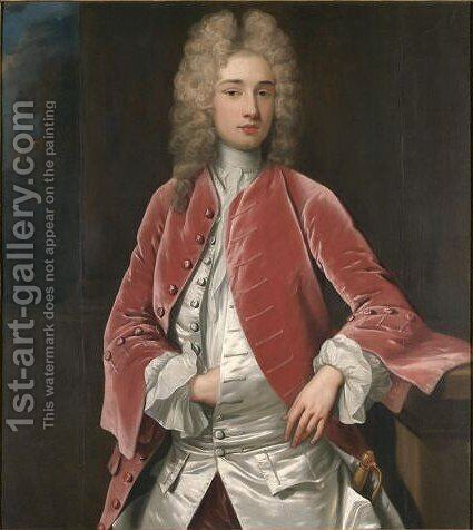 Portrait Of The Hon. Thomas Verney (1691-1710) by Charles d' Agar - Reproduction Oil Painting