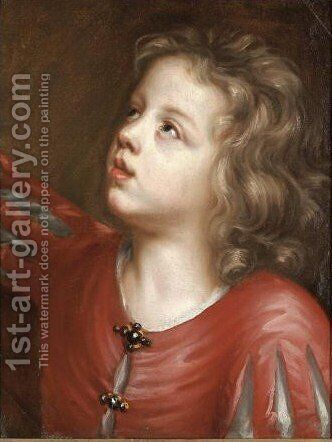 Portrait Of The Artist's Son, Batholomew Beale (1656-1709) by Mary Beale - Reproduction Oil Painting