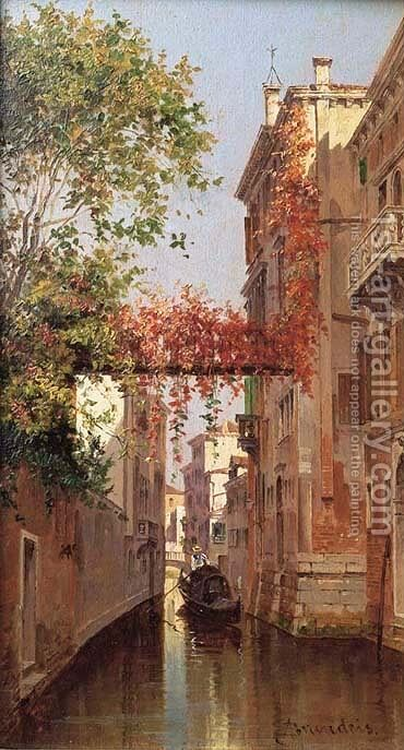A view of Palazzo Albrizzi, Venice by Antonietta Brandeis - Reproduction Oil Painting