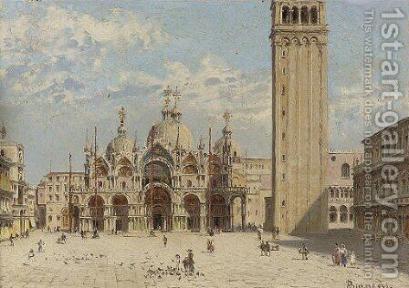 St.Marks, Venice by Antonietta Brandeis - Reproduction Oil Painting