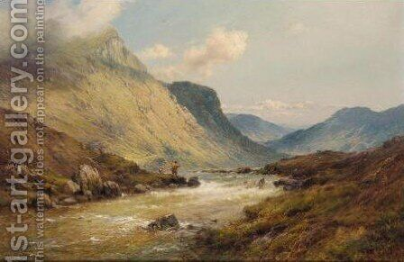 The Valley Of The Dee 2 by Alfred de Breanski - Reproduction Oil Painting