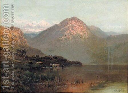 Ben Nevis by Alfred de Breanski - Reproduction Oil Painting