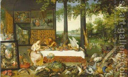 Taste by Jan, the Younger Brueghel - Reproduction Oil Painting
