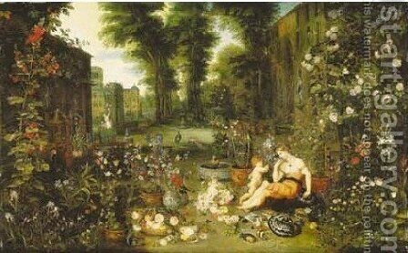 Smell by Jan, the Younger Brueghel - Reproduction Oil Painting