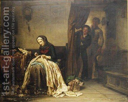 The Unexpected Return Of The Son by Carl Wilhelm Hübner - Reproduction Oil Painting