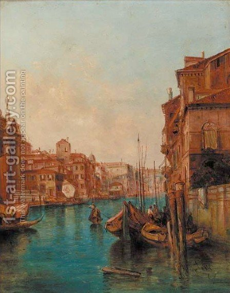 The Palace Pisani, Venice by Alfred Pollentine - Reproduction Oil Painting