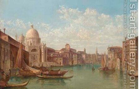 S. Georgio Maggiore, Venice by Alfred Pollentine - Reproduction Oil Painting