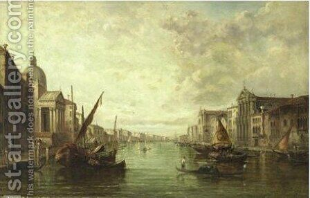View Of Venice 2 by Alfred Pollentine - Reproduction Oil Painting