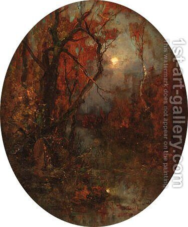 Moonlit Landscape by Iulii Iul'evich (Julius) Klever - Reproduction Oil Painting