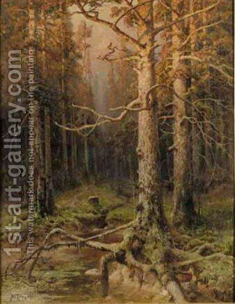Forest Landscape by Iulii Iul'evich (Julius) Klever - Reproduction Oil Painting