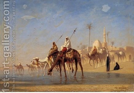 Un Gue En Bas Egypte by Charles Théodore Frère - Reproduction Oil Painting