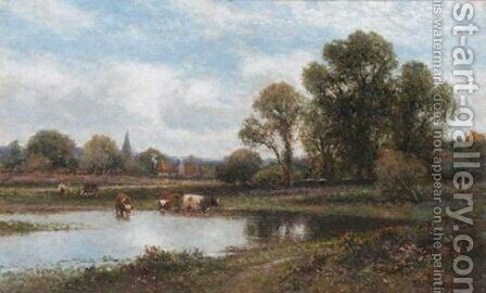 Morning, Chislehurst by Alfred Glendening - Reproduction Oil Painting