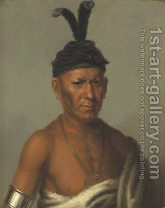 Wai-Kee-Chai, Sanky Chief, Crouching Eagle by Charles Bird King - Reproduction Oil Painting
