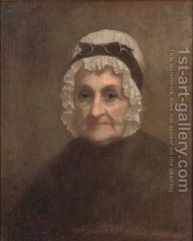 Portrait of Judith Farnum Chandler (1764-1851), the artist's grandmother by Eastman Johnson - Reproduction Oil Painting