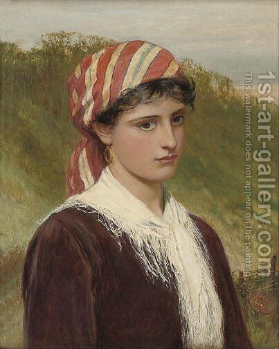 The young gypsy by Charles Sillem Lidderdale - Reproduction Oil Painting