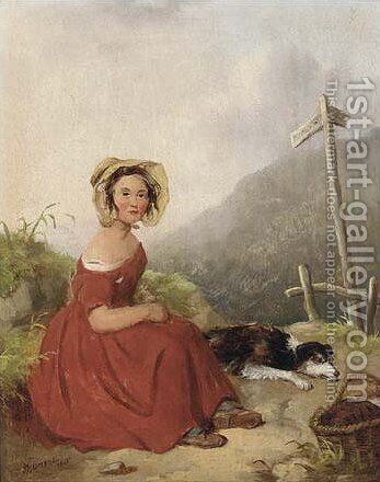 A wayside rest by Isaac Henzell - Reproduction Oil Painting