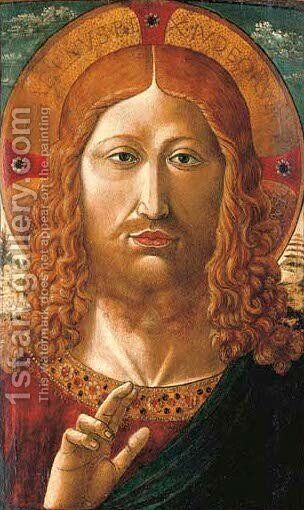 Salvator Mundi by Benozzo di Lese di Sandro Gozzoli - Reproduction Oil Painting