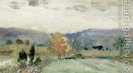 The Shore Of Rockland Lake And The Bend Of The Road Toward Rockland Lake by Arthur Bowen Davies - Reproduction Oil Painting